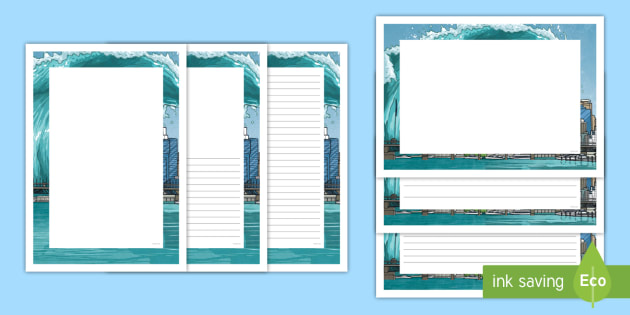NEW * Tsunamis Page Border Pack - ACSSU096, tidal wave, natural disaster