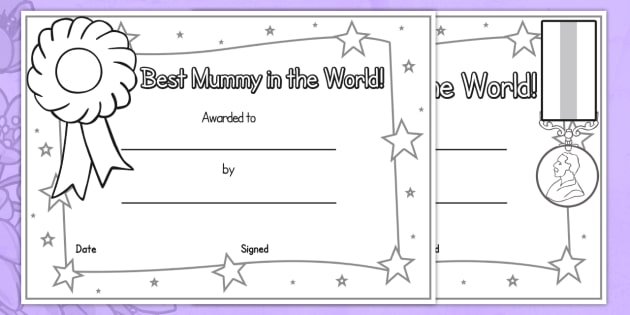 mothers day certificate template - Towerssconstruction