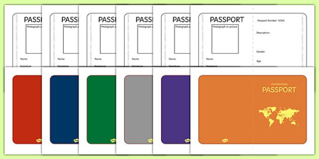 International Passport Template - Passport, Design, holiday - passport template