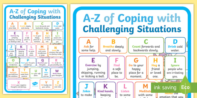 A-Z of Coping with Challenging Situations Display Poster