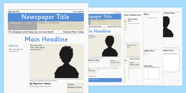 KS2 Newspaper Templates  Reports Primary Resources - Newspaper Headline Template