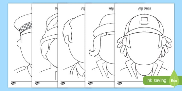 People Who Help Us Themed Blank Face Templates Activity