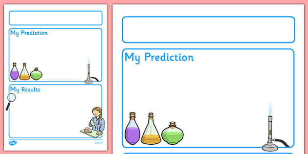 FREE! - Science Experiment Recording Sheet - EY  KS1 - Science