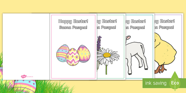 Easter Card Templates English/Italian - Easter Card Templates - Design