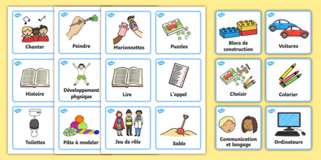 Visual Timetable Nursery FS1 French - french, Daily Routine