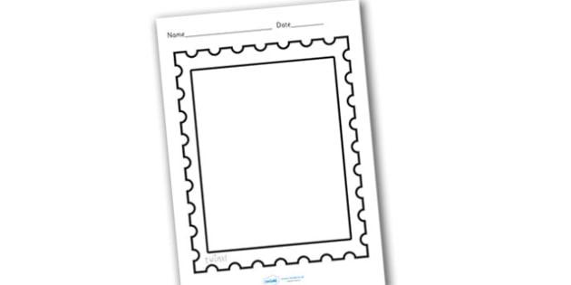 Design a Post Office Stamp - design a stamp, design, make your - stamp template
