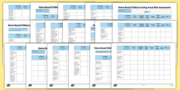 Home-Based Childcare Risk Assessment Pack - risk assessment