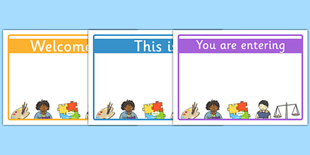 FREE! - Editable Classroom Welcome Signs (Design 1) - Classroom sign