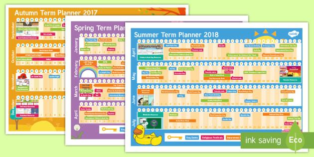 2017 - 2018 Academic Year Calendar Display Pack - 2017-2018