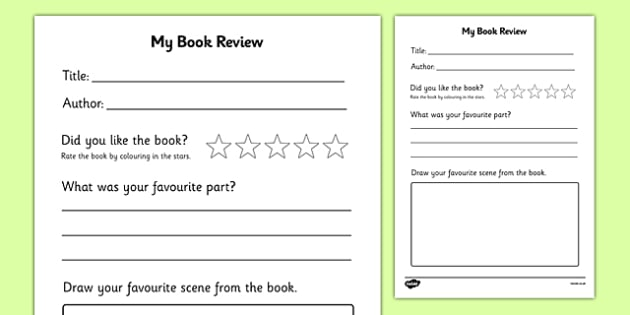 Printable Book Review - book review, book review template, my - printable book report forms