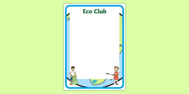 Eco Club Poster Editable Template - eco club, extracurricular - editable poster templates