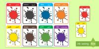 Deutsch-Arabische Farben Wort- und Bildkarten - Deutsch lernen
