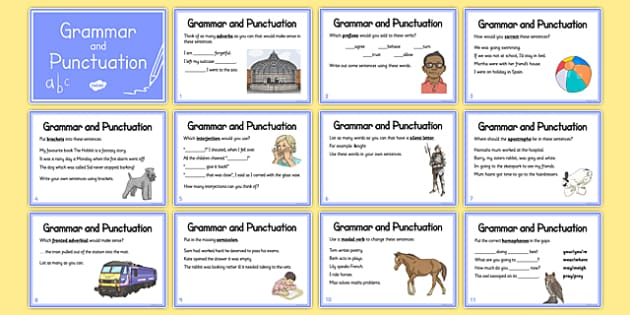 Year 5 Grammar And Punctuation Challenge Cards Grammar