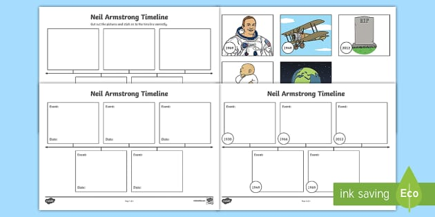 Neil Armstrong Time Line Activity - neil armstrong, moon landing, 1969