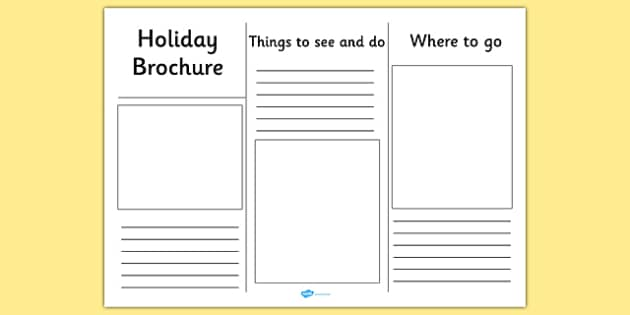 Editable Holiday Brochure Template - holiday, brochure, template