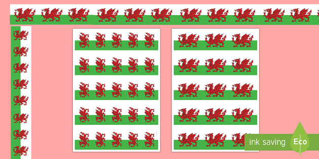 Welsh Dragon Display Borders - welsh dragon border, welsh dragon, welsh