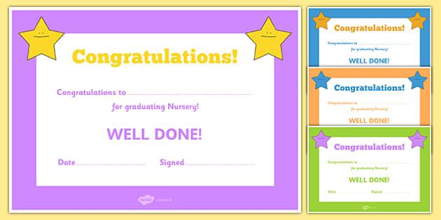 graduation certificate for kids