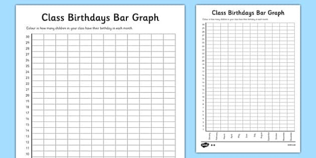 Summary -\u003e 6 Best Images Of Birthday Bar Graph Printable Birthday