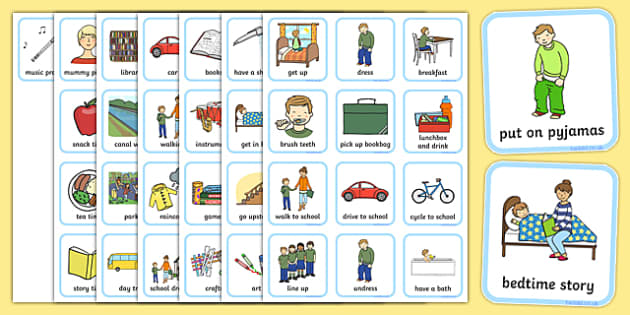 Visual Timetables Primary Resources, visual - Page 1 - daily timetable