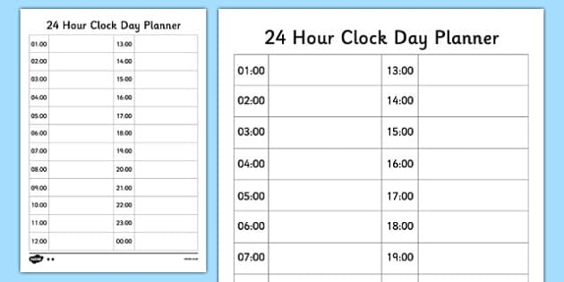 weekly hour planner