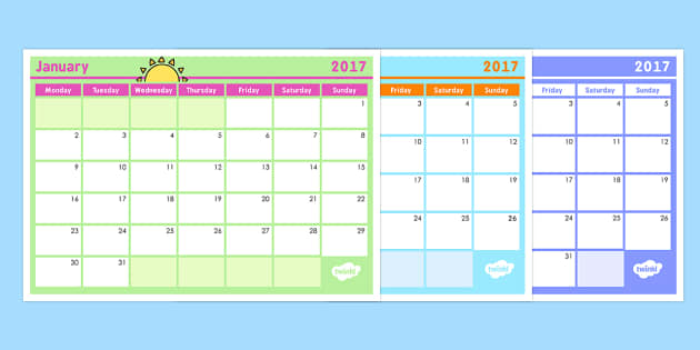 Monthly Calendar Planning Template 2017 - monthly, calendar - assessment calendar template