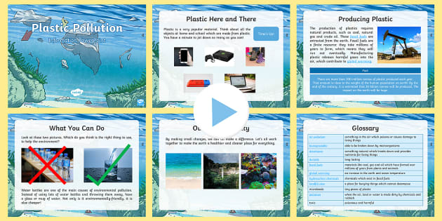 Plastic Pollution Information PowerPoint - science, the - how to do a poster in powerpoint