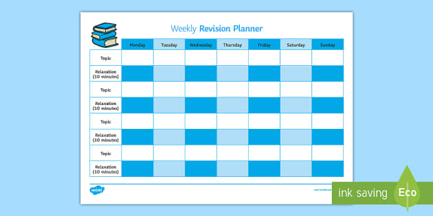 revision plan template