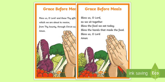 Grace Before Meals A4 Display Poster Cfe Catholic