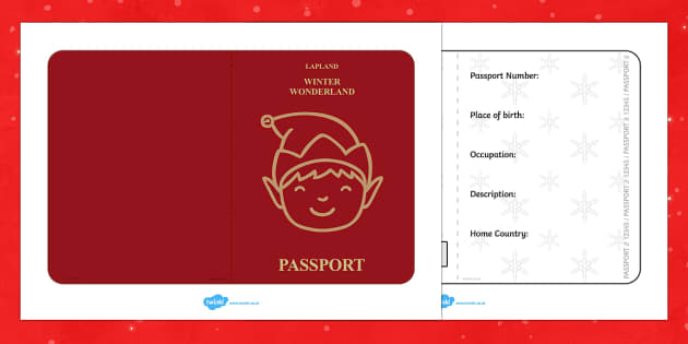passport template