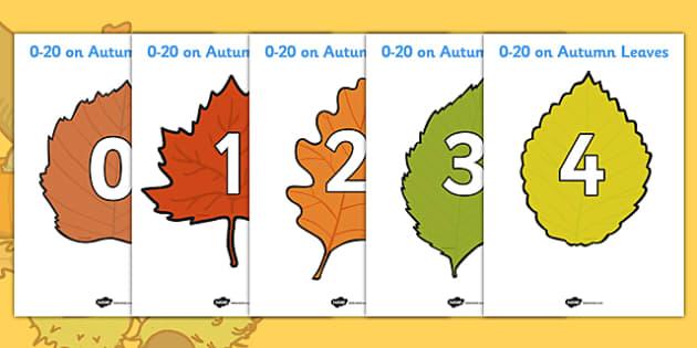 Editable Autumn Leaves Templates - Display, editable, label