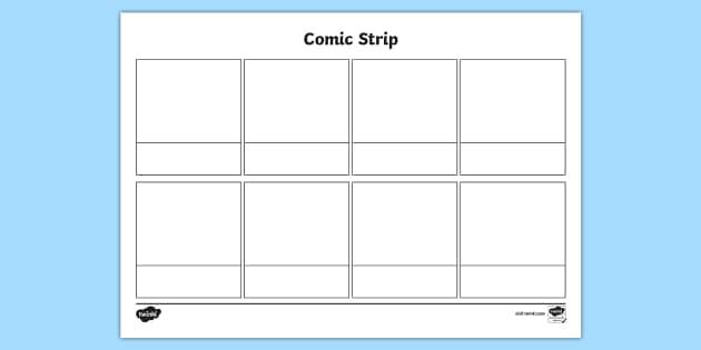 FREE! - * NEW * Blank Comic Strip Template - comic, comic strip