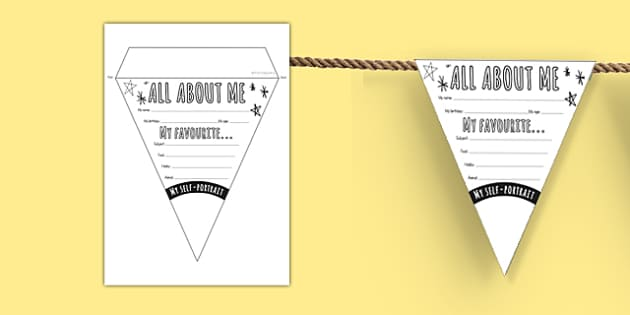 All About Me Transition Bunting
