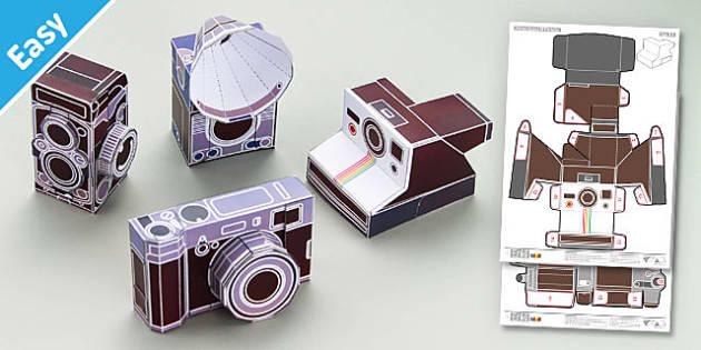 Enkl Vintage Camera Paper Model Printables - Enkl, arts, crafts