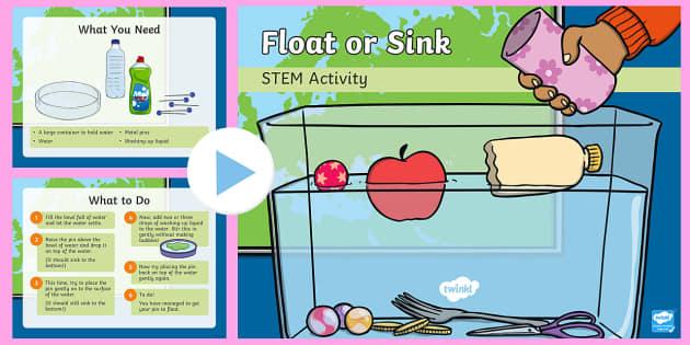 Float Or Sink Powerpoint Make A Splash Stem Ks1