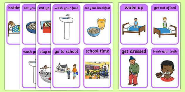 SEN Daily Routine Resources, Daily Routine, Schedule - Page 1 - daily timetable