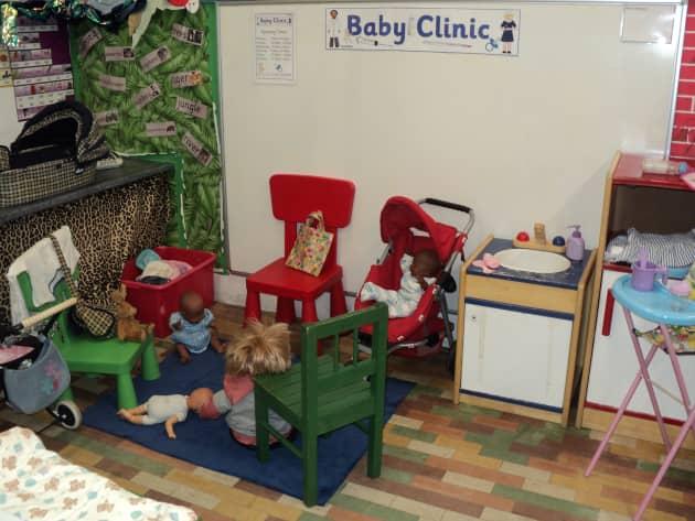 Role Play Corner Baby Clinic Health Display Classroom