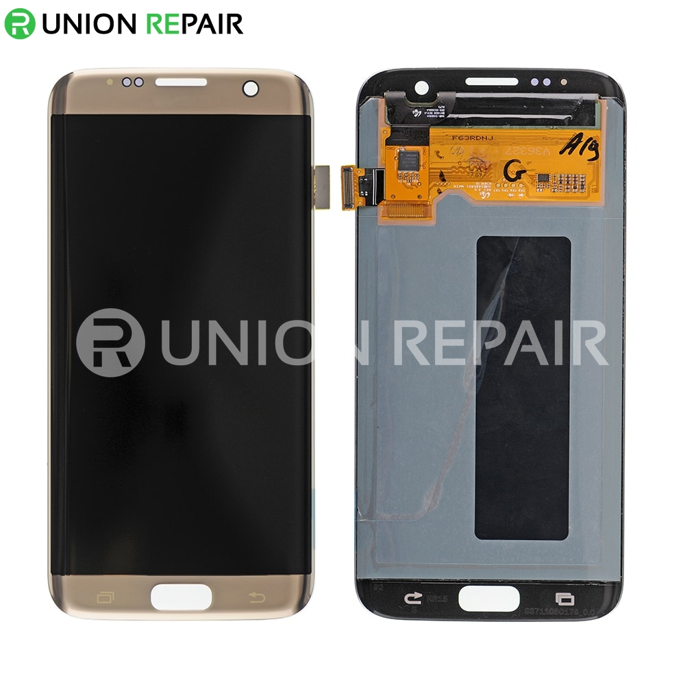 Samsung Screen Replacement For Samsung Galaxy S7 Edge Sm G935 Series Lcd Screen And Digitizer Gold