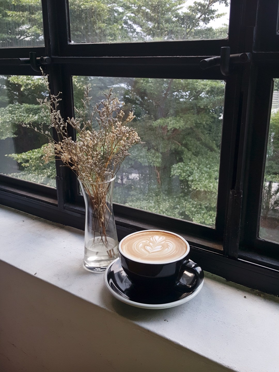 Indie Wallpaper Hd Window Window Ledge Coffee And Plant Hd Photo By
