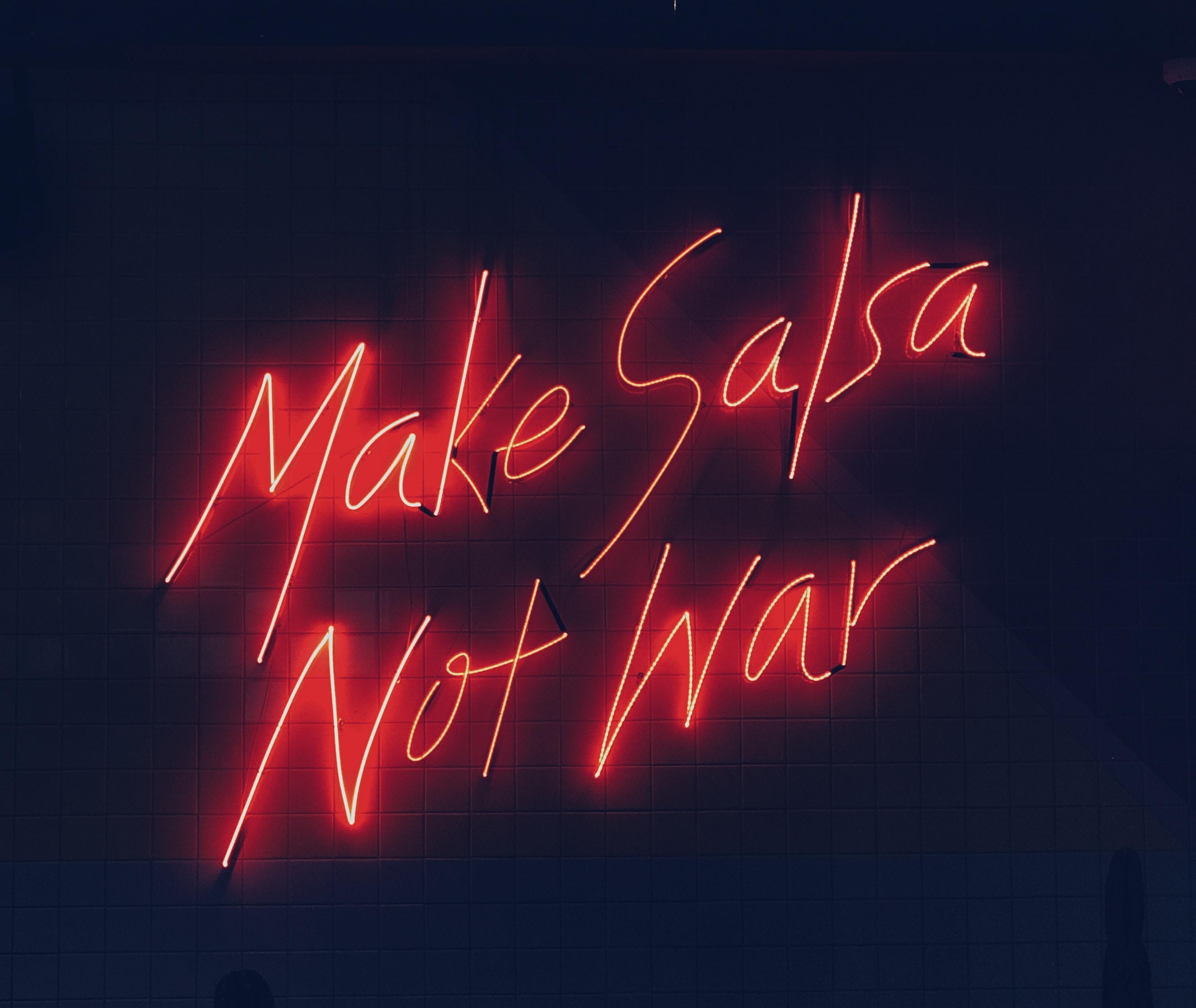 Funny Quotes Free Wallpaper Make Salsa Not War Photo By Natalya Natalya 0104 On