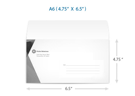 A6 Envelope Party and Wedding Envelopes UPrinting - sample a2 envelope template