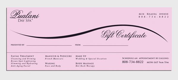 Custom Gift Certificates - UPrinting