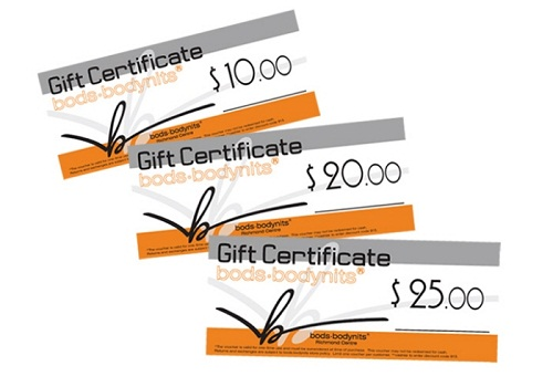 Gift Certificate Size UPrinting
