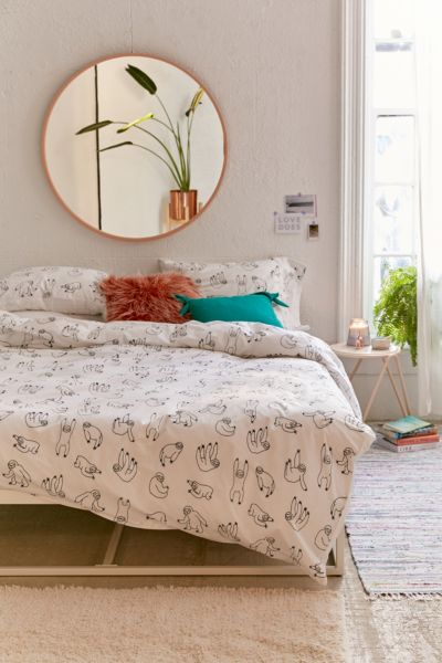 Urban Outfitters Bettwäsche Sloth King Size Bedding