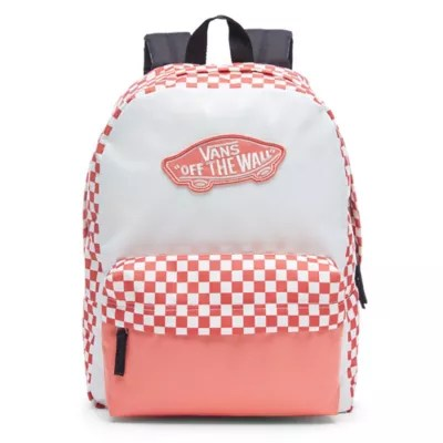Rosa Rucksack 191475560240 Upc Vans Realm Rucksack Spiced Coral Checkerboard
