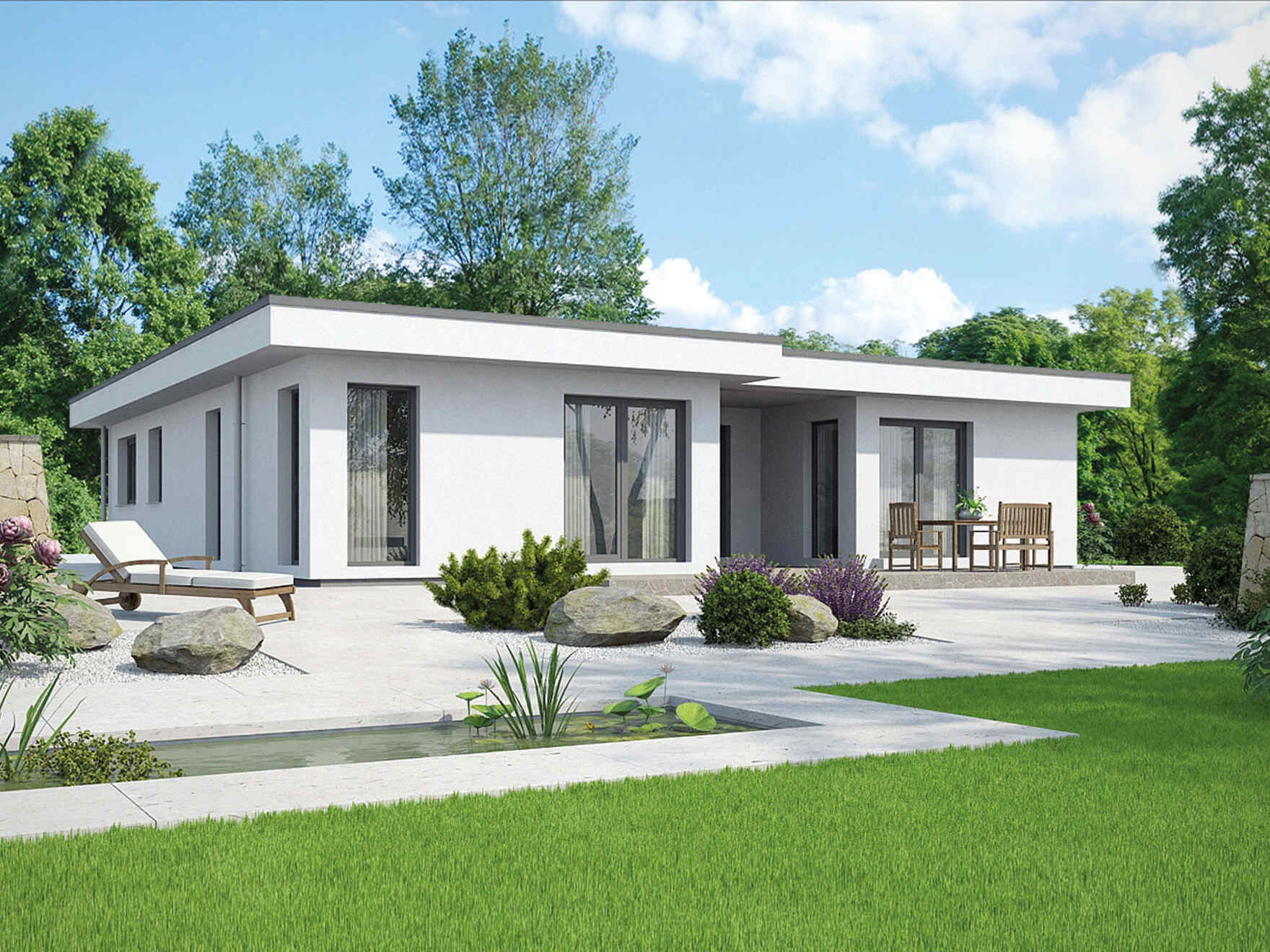 Flachdach Fertighaus Prefabricated Houses From Vario Haus Gives Your Life A Home