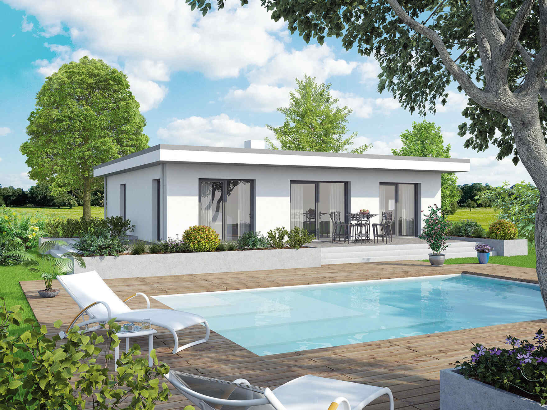 Pool Kaufen Sale Fertighaus Bungalow New Design Vs Vario Haus