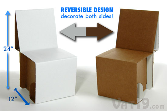 Elia Mini Cardboard Chair Kit Assemble Your Very Own