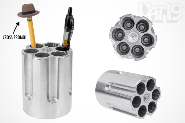 Gun Cylinder Pen Holder Revolver Pen Holder