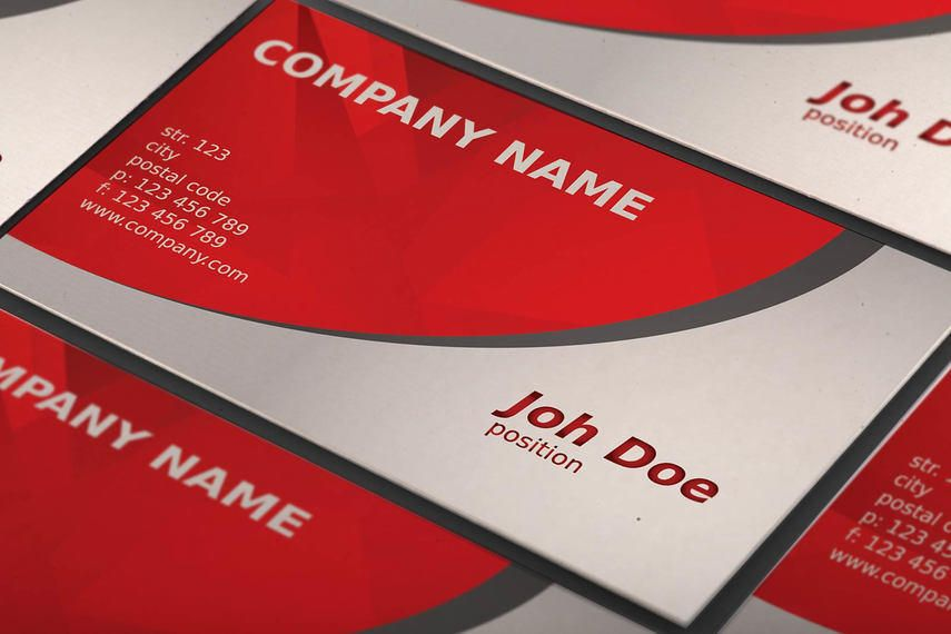 Red Curves Beautiful Business Card - Vector download