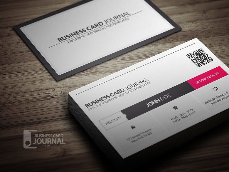 QR Code Corporate Business Card - Vector download